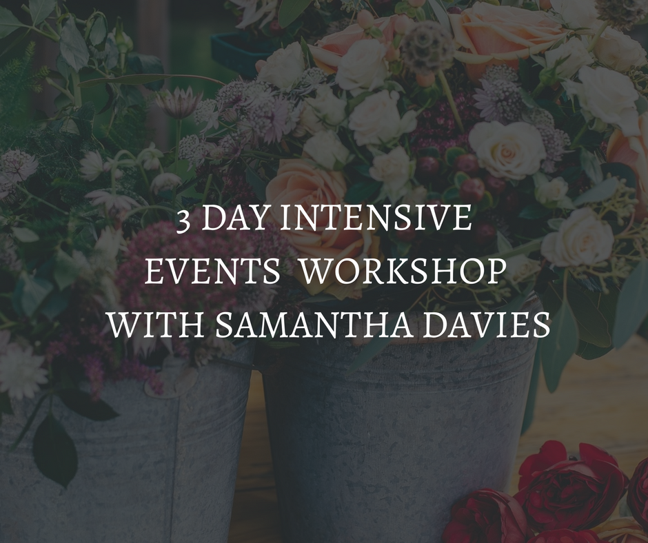 3 day intensive Events business workshops with Samantha Davies